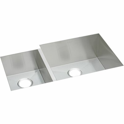 Avado 35.25 x 20.5 Stainless Steel Double Bowl Undermount Kitchen Sink