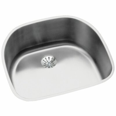Harmony 23.6 x 21.2 Stainless Steel Single Bowl Undermount Kitchen Sink