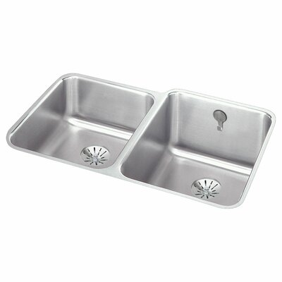 Lustertone 31 x 21 Double Basin Undermount Kitchen Sink