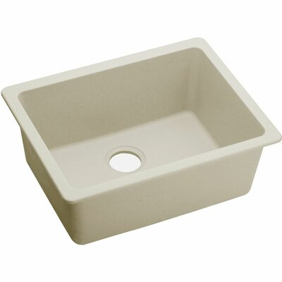 Quartz Luxe 25 x 18.5 Single Bowl Dual Mount Kitchen Sink Finish: Parchment