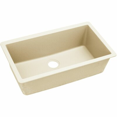 Quatrz Luxe 33 x 20.87 Single Bowl Top Mount Kitchen Sink Finish: Parchment
