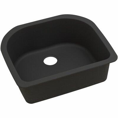 Quatrz Luxe 25 x 22 Single Bowl Dual Mount Kitchen Sink Finish: Caviar