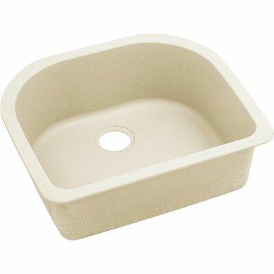 Quatrz Luxe 25 x 22 Single Bowl Dual Mount Kitchen Sink Finish: Parchment