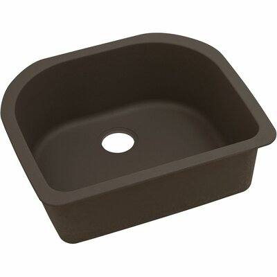 Quatrz Luxe 25 x 22 Single Bowl Dual Mount Kitchen Sink Finish: Chestnut