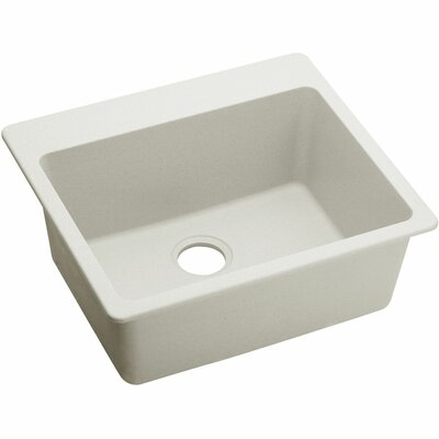Quatrz Luxe 25 x 22 Single Bowl Dual Mount Kitchen Sink Finish: Ricotta