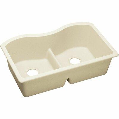 Quartz Luxe 33 x 20 Double Bowl Undermount Kitchen Sink Finish: Parchment