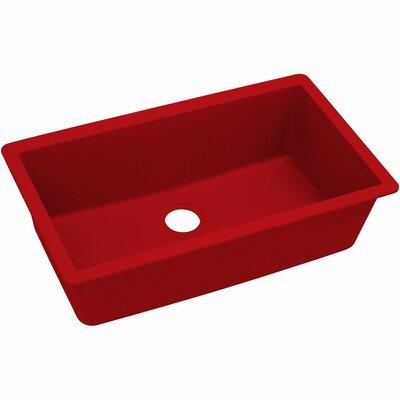 Quatrz Luxe 33 x 20.87 Single Bowl Top Mount Kitchen Sink Finish: Maraschino