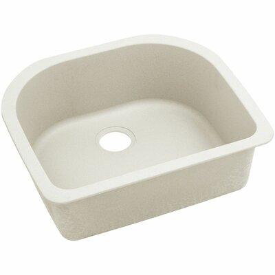 Quatrz Luxe 25 x 22 Single Bowl Dual Mount Kitchen Sink Finish: Ricotta