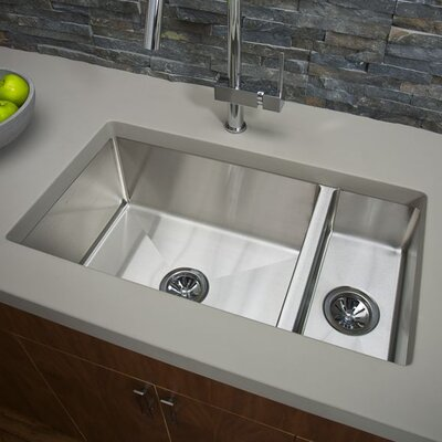 Avado 32.25 x 18.25 Double-Multi Sized Bowl Undermount Kitchen Sink