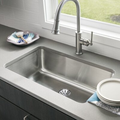 Gourmet 30.5 x 18.5 Stainless Steel Single Bowl Undermount Kitchen Sink