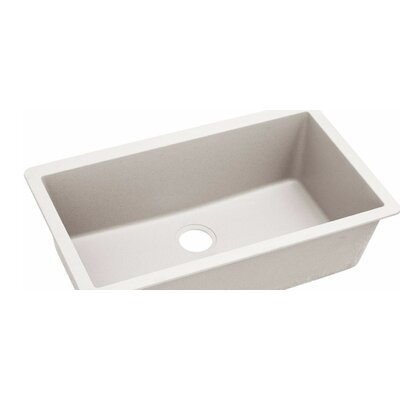 Quatrz Luxe 33 x 18.43 Single Bowl Dual Mount Kitchen Sink Finish: Ricotta