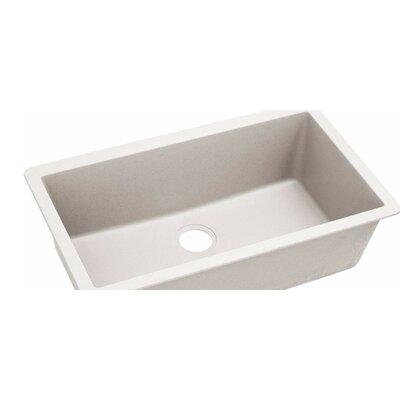 Quatrz Luxe 33 x 20.87 Single Bowl Top Mount Kitchen Sink Finish: Ricotta