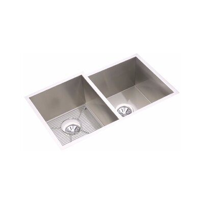 Avado 31.25 x 20.5 Stainless Steel Double Bowl Undermount Kitchen Sink