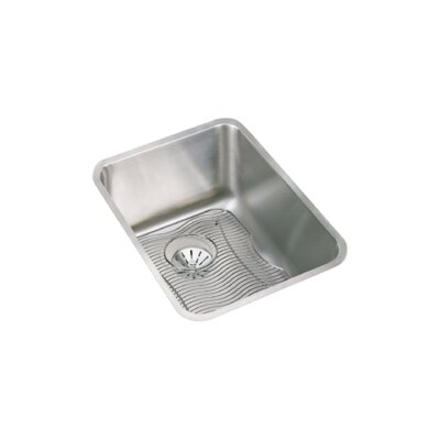 Lustertone 17 x 21 Undermount Kitchen Sink with Perfect Drain and Bottom Grid