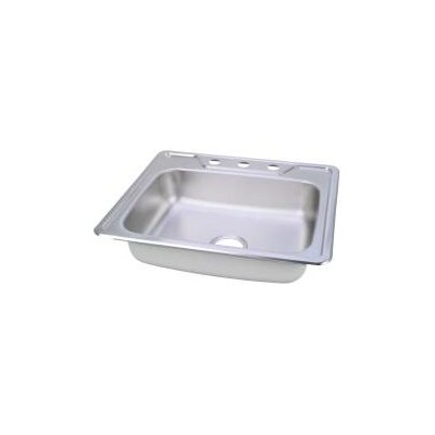 Elkay Kingsford Drop-in 25 x 22 Single Bowl Drop-In Kitchen Sink