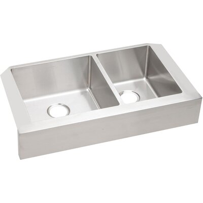 Crosstown Double Bowl Apron Front Undermount Kitchen Sink