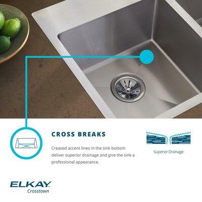 Crosstown 24 x 18 Undermount Kitchen Sink