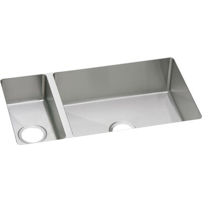 Crosstown 32 x 18 Double Basin Undermount Kitchen Sink