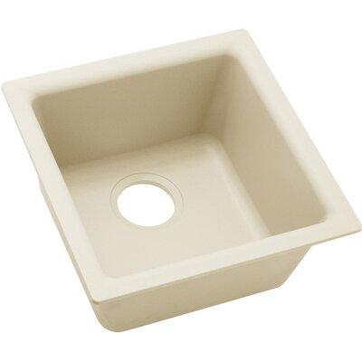 Quatrz Luxe 15.75 x 15.75 Single Bowl Dual Mount Bar Sink Finish: Parchment