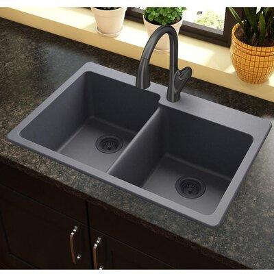 Quartz Classic 33 x 22 Kitchen Sink Finish: Dusk Gray