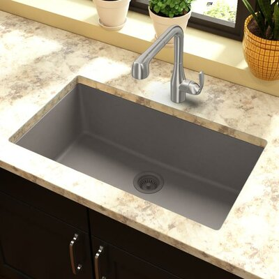 Classic 33 x 18.4 Single Bowl Kitchen Sink Finish: Greige