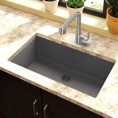 Classic 33 x 18.4 Single Bowl Kitchen Sink Finish: Greystone