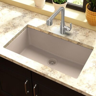 Quartz Classic 30.25 x 16.3 Undermount Kitchen Sink Finish: Putty