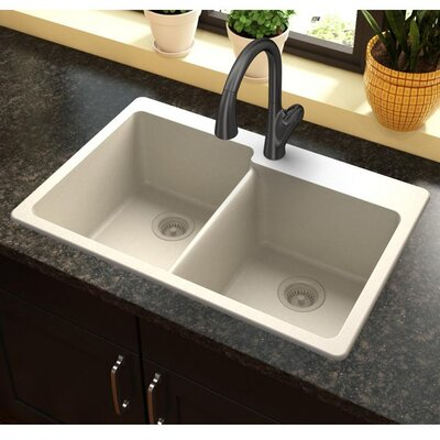 Quartz Classic 33 x 22 Kitchen Sink Finish: Bisque