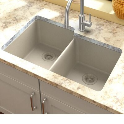 Quartz Classic 33 x 20.5 Undermount Kitchen Sink Finish: Bisque