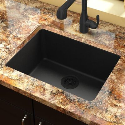 Quartz Classic 25 x 18.5  Undermount Kitchen Sink Finish: Black
