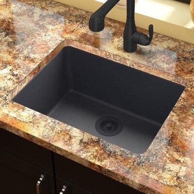 Quartz Classic 25 x 18.5  Undermount Kitchen Sink Finish: Dusk Gray