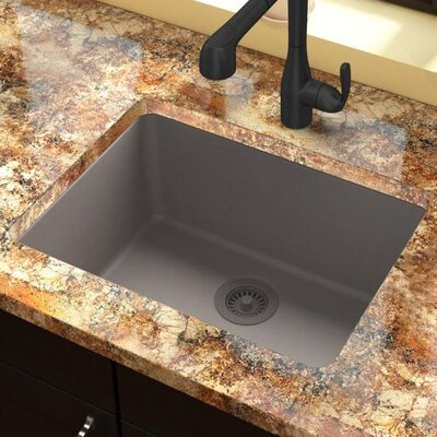 Classic 25 x 18.5 Single Bowl Kitchen Sink Finish: Greige