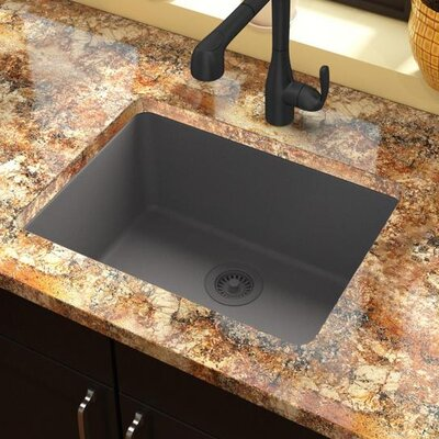 Classic 25 x 18.5 Single Bowl Kitchen Sink Finish: Greystone
