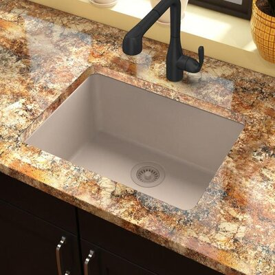 Classic 25 x 18.5 Single Bowl Kitchen Sink Finish: Putty