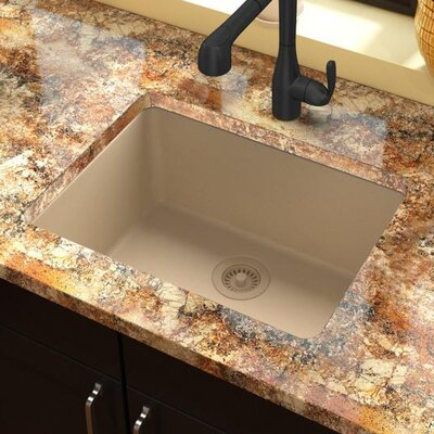 Classic 25 x 18.5 Single Bowl Kitchen Sink Finish: Sand