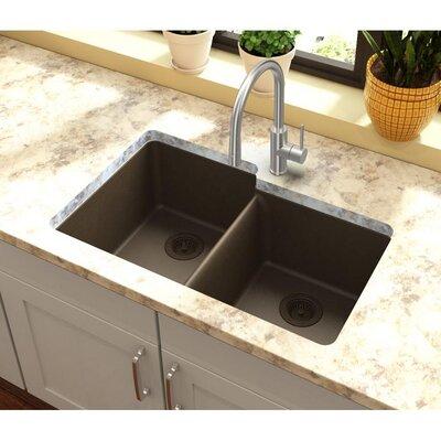 Quartz Classic 33 x 20.5 Undermount Kitchen Sink Finish: Mocha
