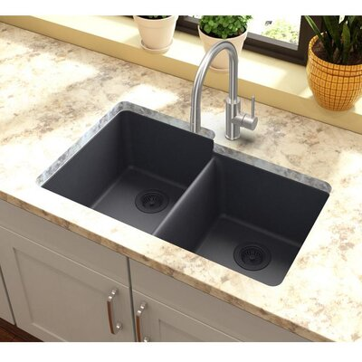 Quartz Classic 33 x 20.5 Undermount Kitchen Sink Finish: Dusk Gray