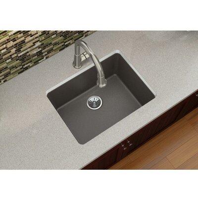 Quartz Luxe 25 x 18.5 Single Bowl Dual Mount Kitchen Sink Finish: Chestnut