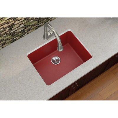Quartz Luxe 25 x 18.5 Single Bowl Dual Mount Kitchen Sink Finish: Maraschino