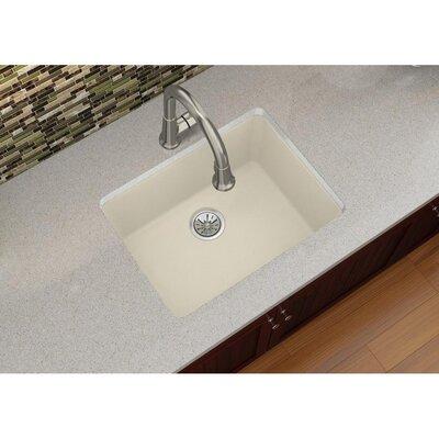 Quartz Luxe 25 x 18.5 Single Bowl Dual Mount Kitchen Sink Finish: Parchment