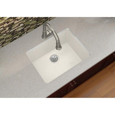 Quartz Luxe 25 x 18.5 Single Bowl Dual Mount Kitchen Sink Finish: Ricotta