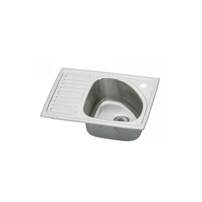 Gourmet 21 x 15 Drop-In Kitchen Sink Faucet Drillings: No Hole