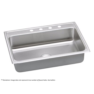 Gourmet (Lustertone�) Stainless Steel Single Bowl Top Mount Sink
