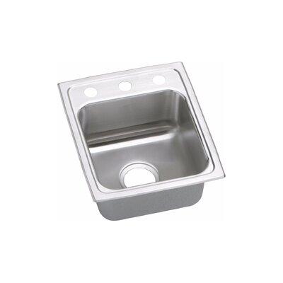 Gourmet (Lustertone�) Stainless Steel Single Bowl Top Mount Sink
