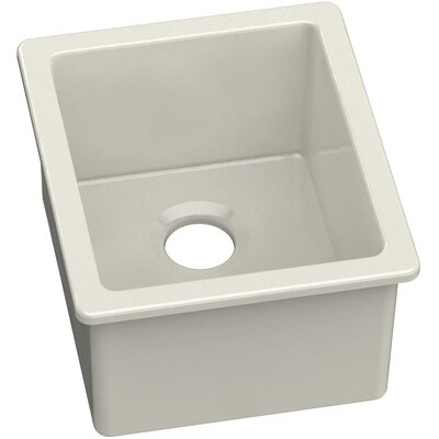 Fireclay 19 x 16 Single Bowl Undermount Bar Sink Finish: White