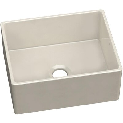 Fireclay Single Bowl 24 x 20 Farmhouse Kitchen Sink Finish: White