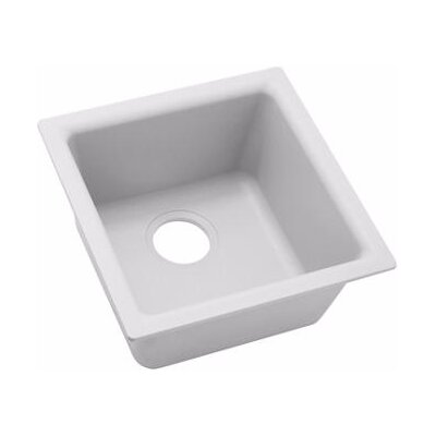 Quartz Classic 16 x 16 Bar Sink Finish: White