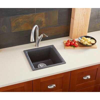 Quartz Classic 15.75 x 15.75 Dual Mount Bar Sink Finish: Black Shale