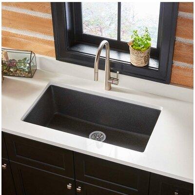 Quartz Classic 30.25 x 16.3 Undermount Kitchen Sink Finish: Black Shale