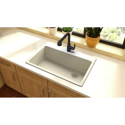 Quartz Classic 33 x 22 Top Mount Kitchen Sink Finish: Bisque